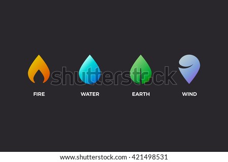 nature elements water  fire