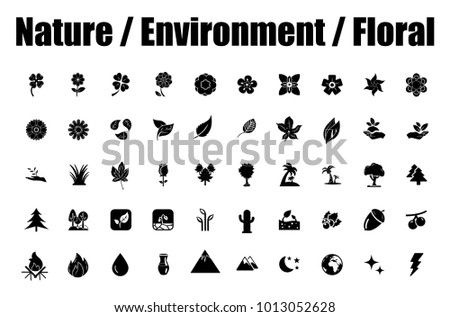 Nature, Environment and Floral icons