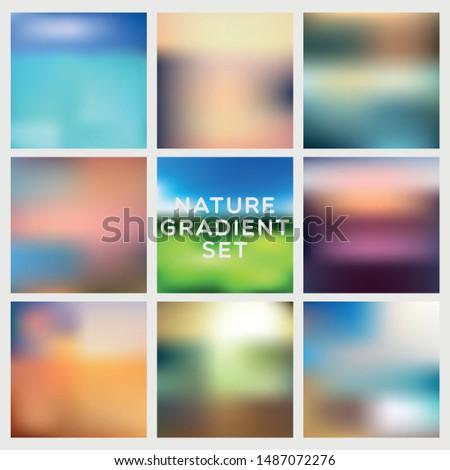 nature gradient set 9 gradient