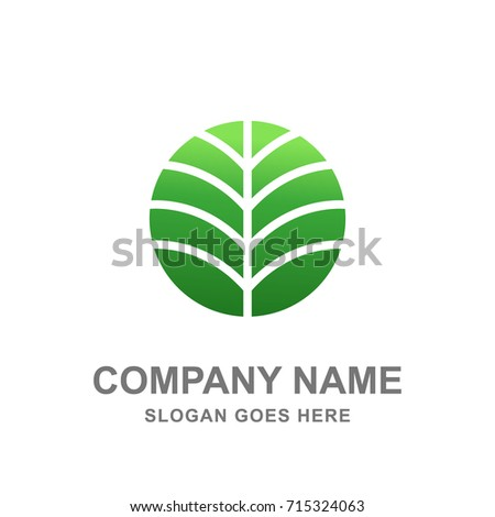 Nature Green Organic Leaf Logo Vector Icon