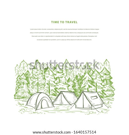nature hand drawn banner vector