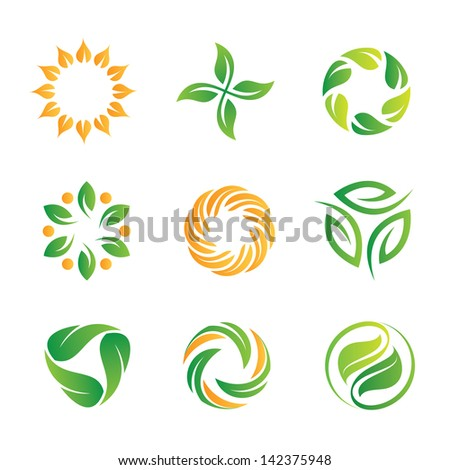 nature healthy food loop logo