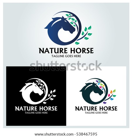 nature horse logo design