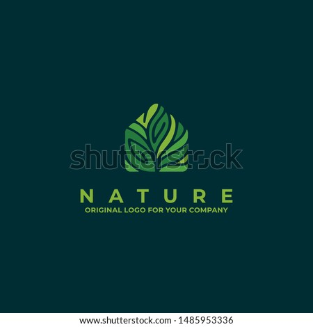 Nature house logo with green color can be used as symbols, brand identity, company logo, icons, or others. Color and text can be changed according to your need.