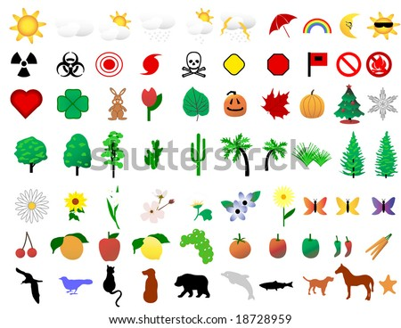 Nature Icon Collection vector is original artwork.