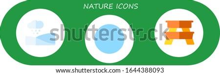 nature icon set 3 flat nature