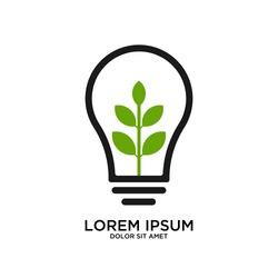 Nature Idea logo template, Green Inspiration logo designs vector, Wheat Idea logo template