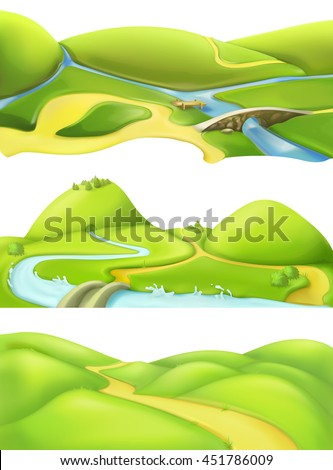 nature landscape  cartoon game