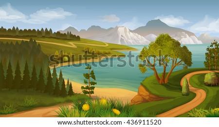 nature landscape  sea bay