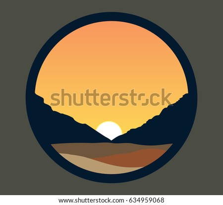 nature landscape  sunset and