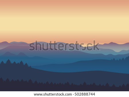 nature landscape twilight