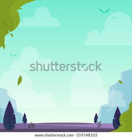 nature landscape vector eps 10