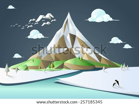 nature landscape vector low