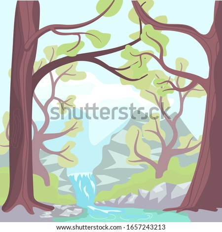 nature landscape with forest