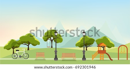 nature landscape with garden