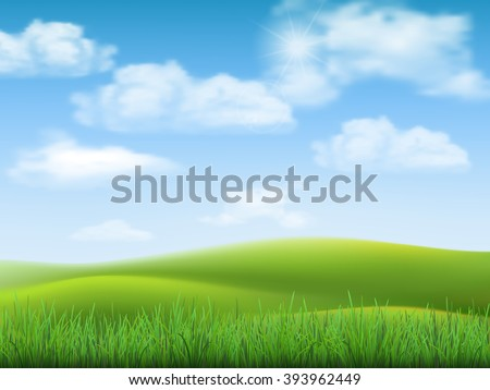 nature landscape with sky