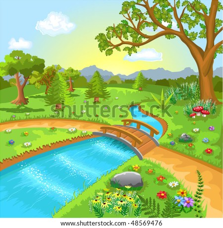 nature landscape with water
