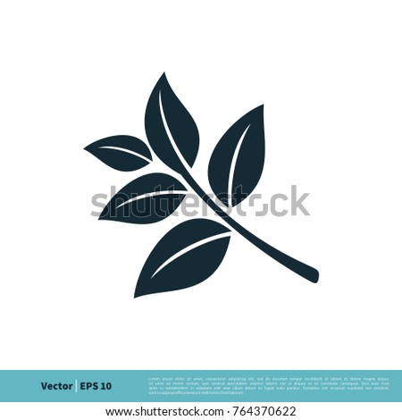 nature leaves icon vector logo