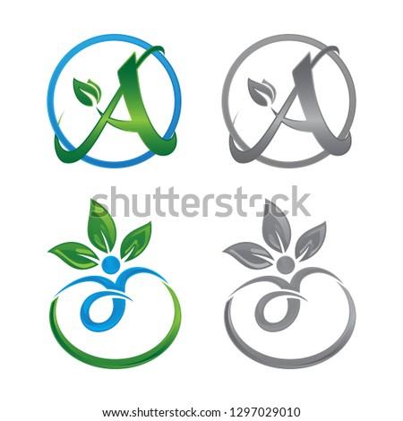 Nature life logo for health company icon concept. Circle leaf logo concept design. Creative circle logo concept design. Vector illustration EPS.8 EPS.10. Vector illustration EPS.8 EPS.10