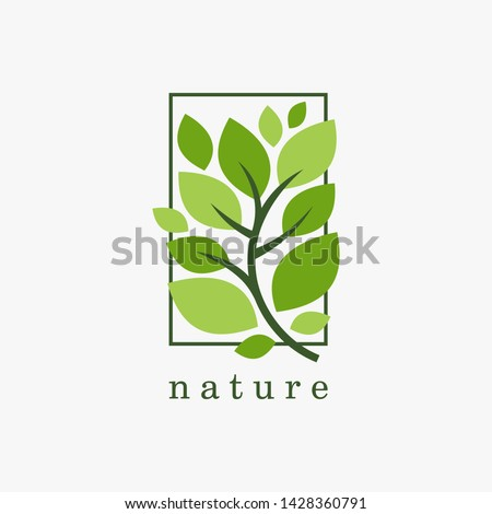 Nature logo design vector template. Leaf icon #1428360791