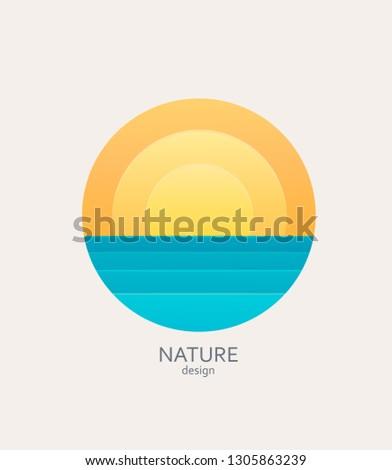 nature logo  emblem or sticker