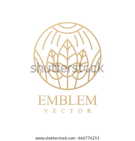 Nature logo. Floral logo. Flower icon. Floral emblem. Cosmetics, Spa, Beauty salon, Decoration, Boutique logo. Interior Icon. Resort and Restaurant Logo. Herbal, leaf, nature icon.