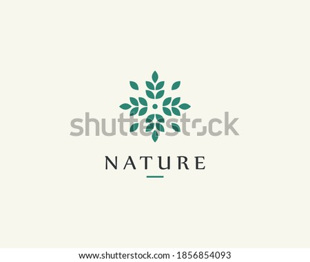 Nature logo for branding, corporate identity, packaging and business card.