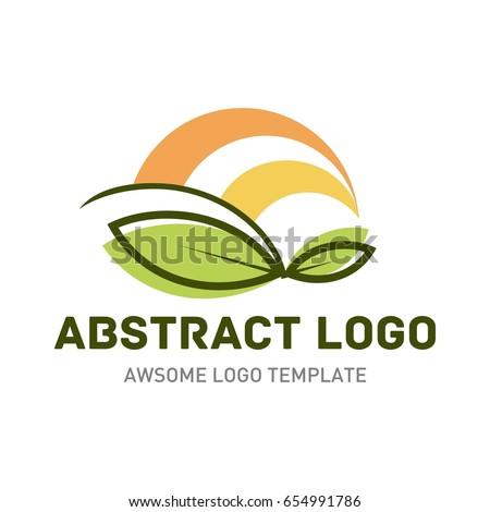 Nature logo template.