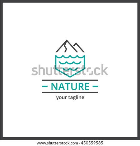 nature mountain sea logo