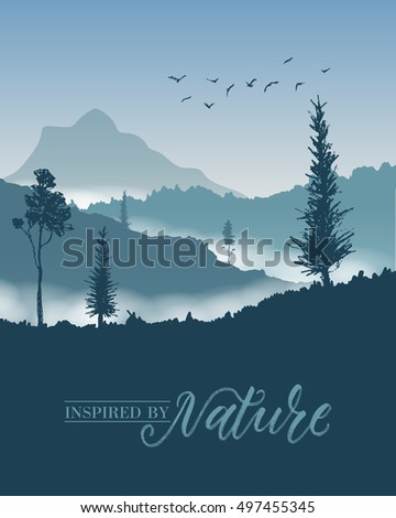 nature mountains background