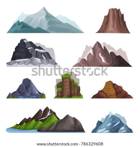 nature mountains set  variety...
