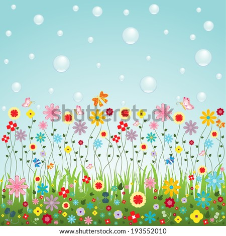 nature of flowers vector for