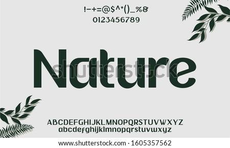 nature orgamoc typeface sans serif feminime font