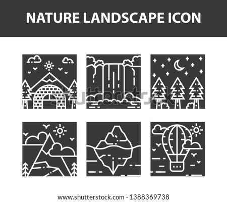 nature outdoor icon set set