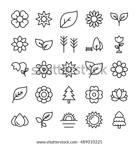 nature  park vector icons 4