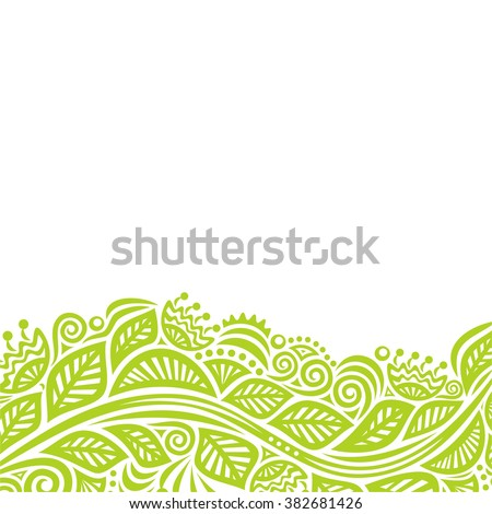 Nature pattern card with beautiful branch vector illustration