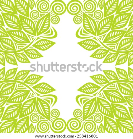 nature pattern frame green