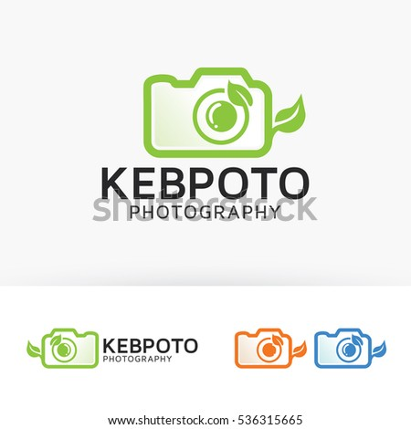 Nature Photography, nature, photograph, camera, leaf, vector logo template