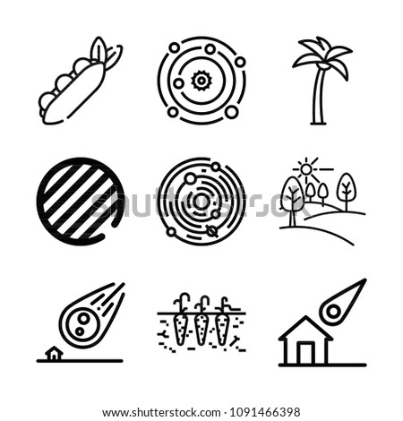 nature related set of 9 icons