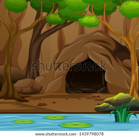 nature scene background with