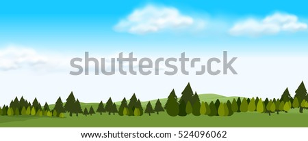 nature scene with green field