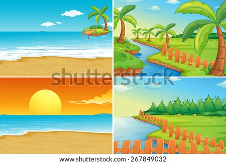 nature scenes of beaches and
