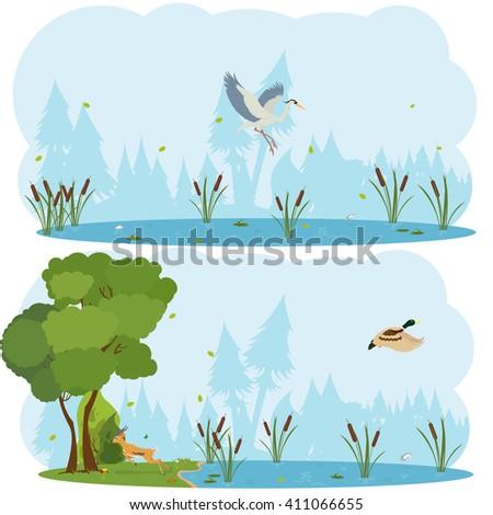 nature scenes. scene lakes and...