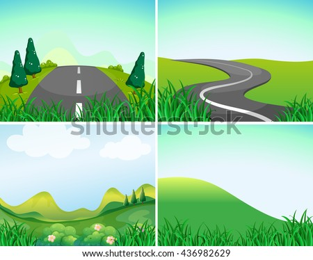 nature scenes with road and