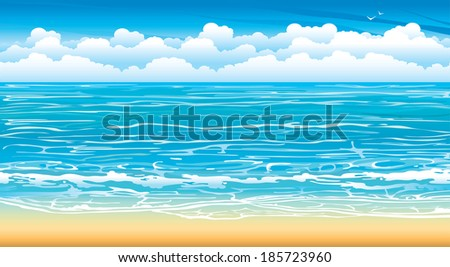 nature seascape with waves and