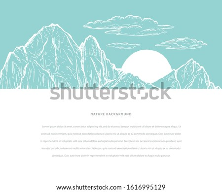 nature sketch vector hand drawn