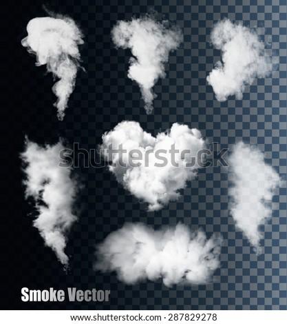 Nature Smoke Vectors On Transparent Background.
