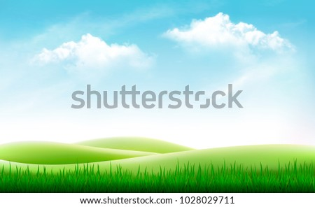 Sunny landscape Download Free Vector Art Stock Graphics Images
