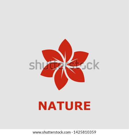 Nature symbol. Outline nature icon. Nature vector illustration for graphic art. #1425810359