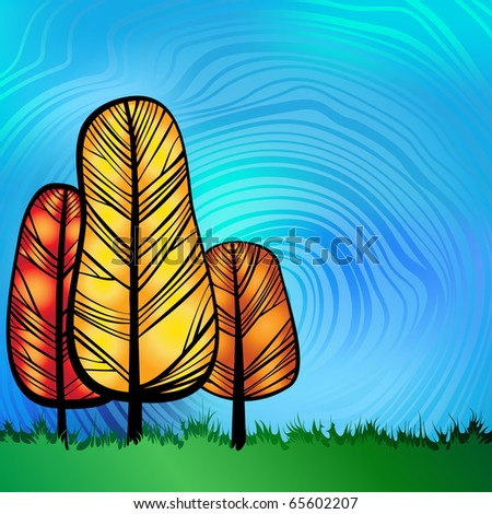 Nature theme background vector. vector file includes transparency effect.